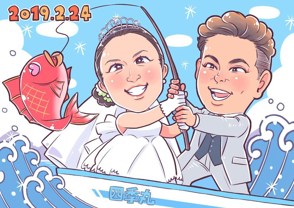 両親 結婚記念日 似顔絵 コツ