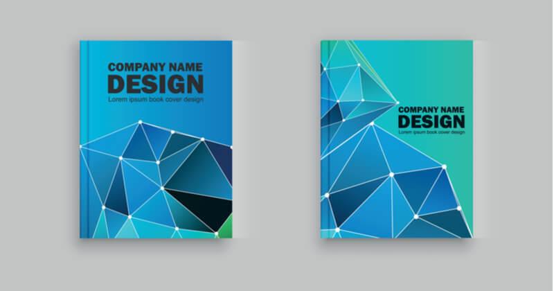 パンフレットの表紙デザイン例