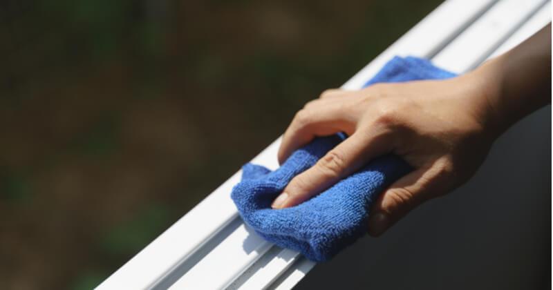 窓掃除の手順