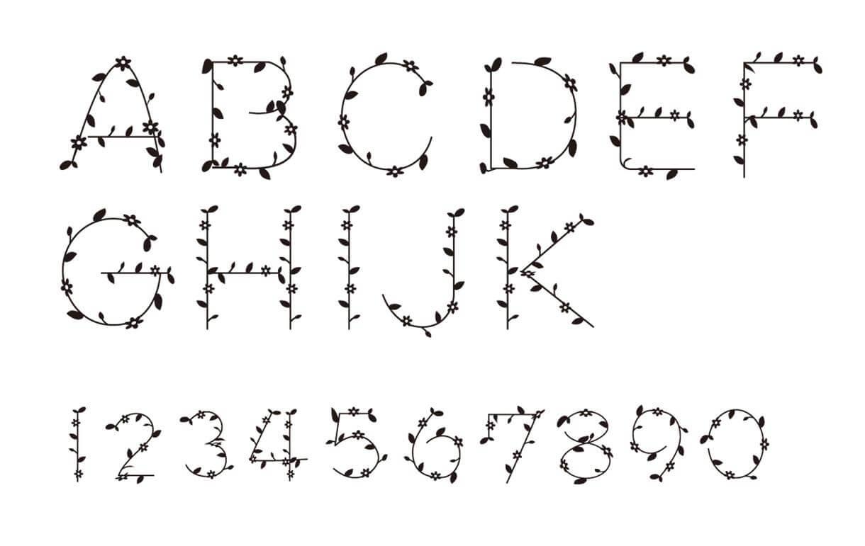 数字 デザイン